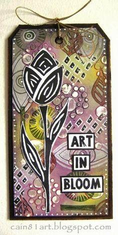 FRIENDS in ART: Ellen Vargo and Lin Brown Eclectica Designer stamps from PaperArtsy.