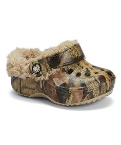 KEEP THOSE TOES COZY AALIYAH---JUST FOR PAPPY!!!Look at this #zulilyfind! Mossy Oak Fleece-Lined Clog #zulilyfinds