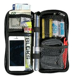 """Sticky pod utility #stash bag for cycling, #large. """"now with #clear phone pocket"""", View more on the LINK: http://www.zeppy.io/product/gb/2/142090088233/"""