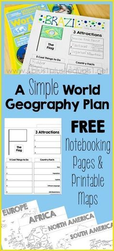 A Simple World Geography Homeschool Plan ~ AND free country notebooking pages and printable maps!