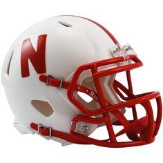 Riddell Nebraska Cornhuskers Mini Speed Helmet - White