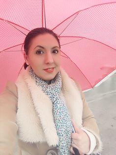 #rain #umbrella #pink