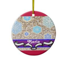 snowy holiday christmas ornaments