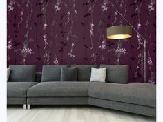 Florals and Botanics: Organic Illustrations and Designs. Wall Murals, Mural Ideas, Couch, Florals, Illustrations, Furniture, Interior Design, Home Decor, Illustration