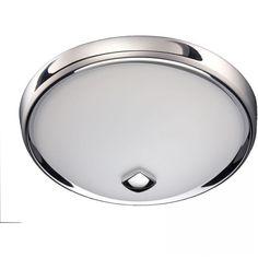 broan nutone decorative bathroom fan with light in chrome 768chnt