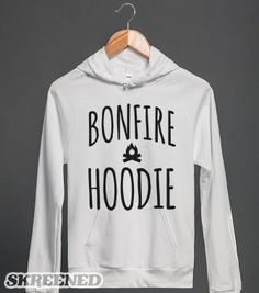 Bonfire Hoodie - Almighty Text - Skreened T-shirts, Organic Shirts, Hoodies, Kids Tees, Baby One-Pieces and Tote Bags