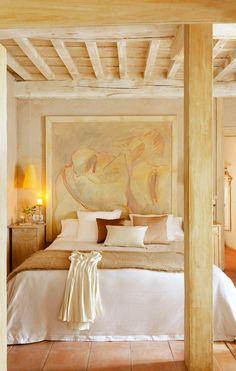 dustjacket attic   soft, warm bedroom of Casa de la Sal, Spain