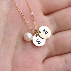 Write Alphabet on Two Initial Letter Charm Necklace