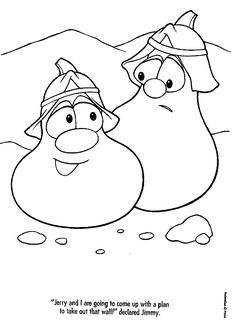 bible veggie tales coloring pages