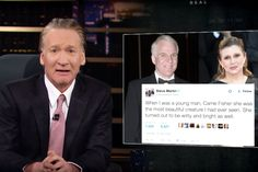 """Bill Maher thinks one reason Donald Trump became President of the United States is liberal culture's concern with language.  """"Democrats have gone from the party that protects people to the party that protects feelings.  From, 'Ask not what your country can do for you,' to, 'You owe me an apology,'"""