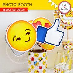 Photobooth para imprimir con Emojis