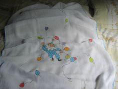 pintura em tecido: toalha fralda