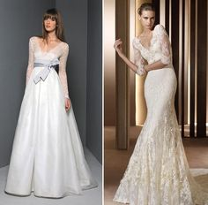 Dress like a Modern Princess – Lace Wedding Dresses. The one one the right will be mine one day!!!