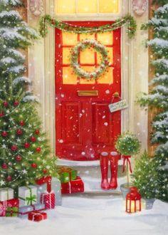 Leading Illustration & Publishing Agency based in London, New York & Marbella. Christmas Wonderland, Magical Christmas, Very Merry Christmas, Christmas Art, Christmas Lights, Christmas Decorations, Christmas Windows, Natural Christmas, Illustration Noel