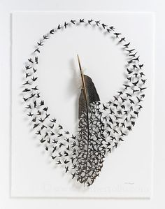Over 30 pieces of bird art show how our feathered friends inspire creativity - Art Painting Feather Crafts, Feather Art, Robin Vogel, Flock Of Birds, Pet Birds, Tiny Bird, Colossal Art, Bird Sculpture, Art Mural