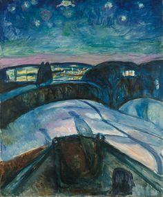 Starry Night, 1922, Edvard Munch, Munch Museum, Oslo.