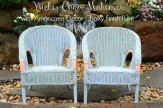 Wicker Chair Makeover! - All Things Heart and Home