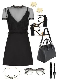 """""""Sin título #522"""" by bethsalash ❤ liked on Polyvore featuring Valentino, Sydney Evan, Givenchy and Lancôme"""