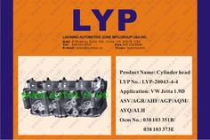 20043-4-4: CYLINDER HEAD OEM number: 038 103 351B/038 103 373E replacement for VW JETTA 1.9D ASV/AGR/AHF/AGP/AQM/AYQ/ALH