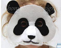 Felt Bear Mask PATTERN  Kids felt Bear por EbonyShaeDesigns en Etsy