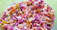 Seriously Good Homemade Coleslaw Recipe // My favorite homemade coleslaw recipe with the most delicious creamy dressing. This coleslaw is quick and easy to make. It is even easy to make in advance. Coleslaw Recipe Bbq, Coleslaw Salad, Homemade Coleslaw, Green Cabbage, Food Videos, Salad Recipes, Easy Meals, Dishes, Eat