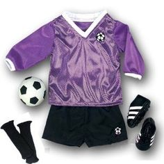 Doll Soccer Outfit, Ball, Black Socks & Cleats, Complete 18 Inch Doll Sports set, Fits American Girl Dolls Sophia's http://www.amazon.com/dp/B004T47HKE/ref=cm_sw_r_pi_dp_JEvhwb17W0PGK Harley (Just Outfit)