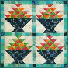 Aunt Claudia's Fruit Bowl quilt pattern by Sandy Petsche | Maple Hill Quilts | Quilt Woman