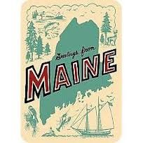 for the welcome baskets... daytrip society maine postcard - Google Search