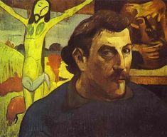 Self Portrait with the Yellow Christ - Paul Gauguin