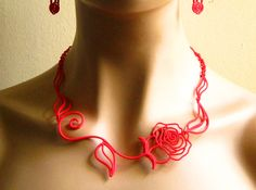 Leaves, Love & Roses Necklace by cwestbrook http://shpws.me/ot8m