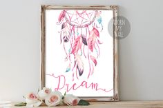 Dreamcatcher print dreamcatcher dreamcatcher art by AdornMyWall