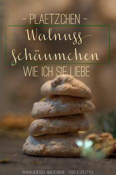 Plätzchen-Rezept für Walnuss-Schäumchen | Recipe for Christmas Cookies: Walnut-Baiser via ÜberSee-Mädchen.de