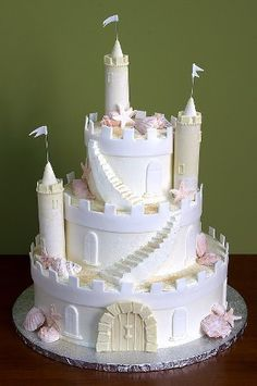 Okay, more like wedding cake, but the concept is cool - just needs to have some more manly decor, you know, like mold, a moat, a dragon, etc.