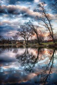 Reflections of Sky & Trees in the Lake ....