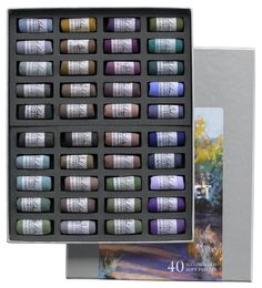 Shop Christine Debrosky Shadow Set of 4 at Artsy Sister. Artist Supplies, Soft Pastels, Creative Colour, Jewel Tones, Lightroom, Artsy, Rich Colors, This Or That Questions, Shadows