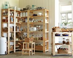 Swedish Wood Shelving #williamssonoma