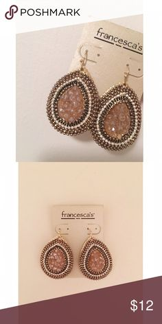 Francesca's Earrings Gold and amber toned earrings from Francesca's. Never worn. Price is negotiable! Francesca's Collections Jewelry Earrings