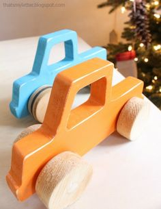 """That's My Letter: """"W"""" is for Wheelie Cars, handmade cars"""