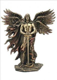 Erzengel Metatron mit 6 Flügeln bronziert / col. Figur Skulptur 2013