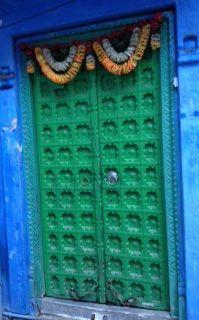 Another blue doorway...