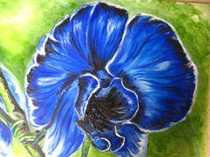 blauwe orchidee.