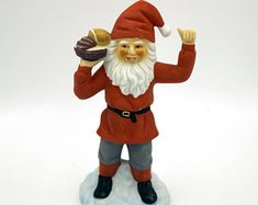 Vintage Nordic Santa Claus figurine Swedish tomte porcelain Christmas gnome ornament