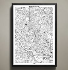 Map Print, WASHINGTON DC from Map Prints by GeoArtShed
