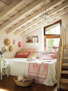 sweet attic sleeping area