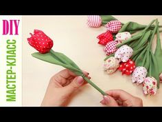 DIY: Wonderful Tulips Fabric    -   Tutorial NataliDoma - YouTube