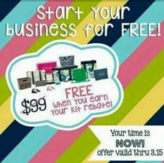 If you have ever thought about becoming a Thirty-One Consultant, now if the time! If you join my team between now and March 15, you become eligible to earn your kit free! That's right FREE! Plus by becoming a qualified consultant you would earn a $250 commission check in addition to you $99 Enrollment Kit fee! And there is another bonus! You would also earn your Level 1 Start Swell. That is a program you begin when you sign up to be a consultant. You get to pick from 8 different groups of…