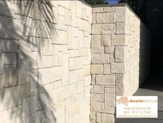 Australian sandstone wall cladding - Colonial White is made up of our white sandstone. There may be traces of light yellow or mauve banding throughout which cannot be avoided and is a natural characteristic of this stone. Sandstone Cladding, Sandstone Wall, Natural Stone Wall, Natural Stones, Stone Supplier, Wall Cladding, Stone Tiles, White Walls, Mauve