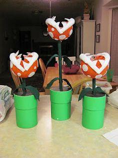 How to Make Super Mario Piranha Plant Centerpieces @Karla Meyer