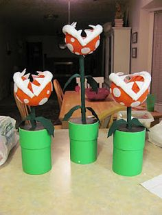 How to make piranha plants. Now I want to do it.