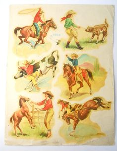 MEYERCORD Co Decal COWBOYS and COWGIRLS by BuckarooBear on Etsy, $9.99